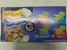 Purina Friskies Seafood & Chicken Pate Favorites - 40 Count 5.5oz Cans