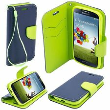 ^ Book Case Hülle Handy Tasche Leder-Imitat Samsung Galaxy J3 2016 DUNKEL BLAU