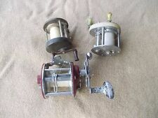 3) Vintage Antique Fishing reels Pflueger Bond & others OLD Collectible
