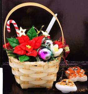 Christmas House Decorations 1.884/6 Reutter Basket Cookie Jar DOLLHOUSE Miniatur