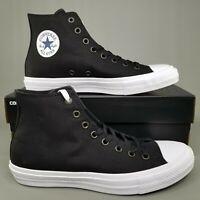 Converse Chuck Taylor All Star II 2 Hi Skate Shoes Mens Size CTAS Black White