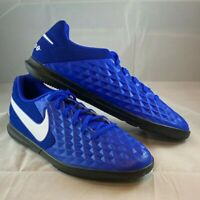 Nike Tiempo Legend 8 IC Indoor Soccer Futsal Shoes AT6110-414 Men's sz 9.5 Blue