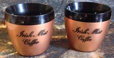 2 RARE VINTAGE HEUBLEIN IRISH MIST COFFEE WEST BEND THERMO-SERV CUPS GLASSES