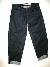New Designer J Brand Jeans Womens 25 Dark Crop Rolled Cuff Riding Patch USA Rare