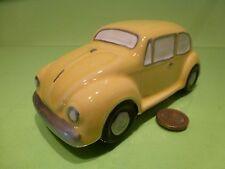 VINTAGE MARACU CERAMIC VW VOLKSWAGEN BEETLE - YELLOW L16.5cm - GOOD CONDITION