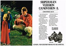 Publicité Advertising 1989 (2 pages) Camescope Canonvision Canon Superman Reeve