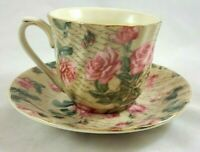 A Special Place Pink Roses Tea Cup and Saucer