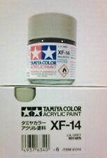 Tamiya acrylic paint. XF-14 J.A. Grey, 23ml.