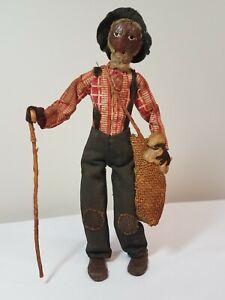 1930s Nut Head Doll 'Old Black Joe' LOVELEIGH Novelty Americana Walnut Folk Art