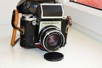 PENTACON SIX TL SLR film camera MEDIUM Format w/s Carl Zeiss Jena BIOMETAR AS IS