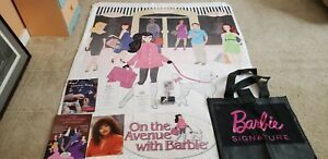 """Barbie Mixed Lot 2018 Convention Blanket(60""""x50""""),Charm Bracelet/w charms & more"""