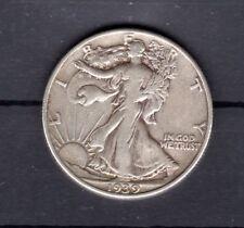 USA-Halber-Dollar 1939 Freiheitsgöttin 900 Silber in zirkulierter Erhaltung