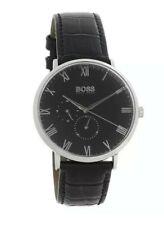 Hugo Boss Men's Black Leather Master Watch - 1513616