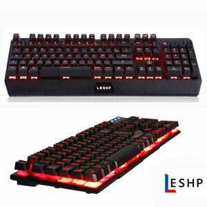 LED USB für PC Gaming Tastatur Keyboard Maus Set Regenbogen Gamer Laptop PS4 BP