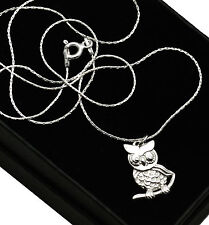 925 Sterling Silver Owl Necklace