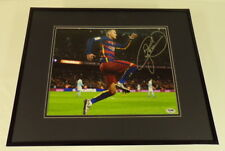 Neymar Jr Signed Framed 16x20 Photo Display PSA/DNA Barcelona FC