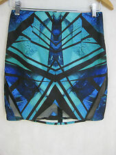 NWT Premonition Size 10 Blue and Green Party Skirt