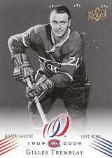 08-09 UPPER DECK MONTREAL CANADIENS CENTENNIAL #142 GILLES TREMBLAY *13823