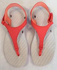 NEW Columbia Sunbreeze Vent T Strap PFG Thong Sandals Womens 7 Coral Orange