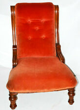 Antique English Mahogany Ladies Fireside Chair - FREE Shipping [PL3399]