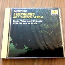 Beethoven Symphonies No. 6 Pastoral & No. 8 CD NEW & SEALED Herbert Von Karajan