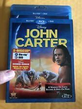John Carter Disney Blu-ray + Dvd & Slip. Brand New And Sealed .combine Ship