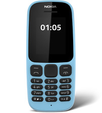 New Nokia 105 ss (2017) BLUE Single Sim Best Keypad Feature mobile phone