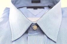 Tommy Hilfiger Designer Dress Shirt 15.5 34/35 White Blue Stripe Regular Fit