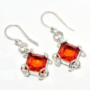 """Garnet Gemstone 925 Sterling Silver Earring Handmade Jewelry 1.29"""" S1971"""