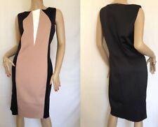 Kaleidoscope~ Black & Camel Bodycon Scuba Dress  Size 16 ~rrp £59 ~ (R8)