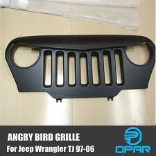 ABS Angry Bird Front Matte Grill Grille Black For 1997-2006 Jeep Wrangler TJ