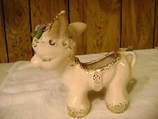 McCoy/Shawnee ? horse planter in pretty pink pastels  vintage about the 1950 's