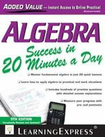 Algebra Success In 20 Minutes A Day: By LLC LearningExpress