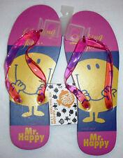 Authentic licensed  Rubber Mr. Happy flip flops