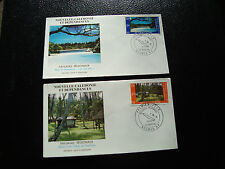 NOUVELLE CALEDONIE -2 enveloppes 1er jour 26/3/1986 timbre yt n° 514 515 (cy22)