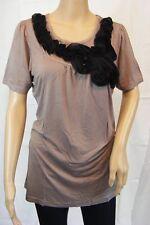 ★ Vila Clothes ★ S ~ braun ~ Top Shirt kurzarm ~ Callie Top ~ NEU