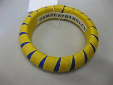 Michigan Wolverines Bangle Bracelet Maize/Blue Peek-A-Boo Stripe New