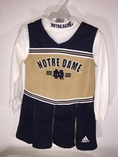 Notre Dame Adidas 2 Pc Cheer Outfit Cheerleader Dress Set - Toddler 4T - New!