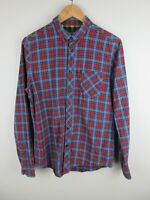 Ben Sherman Mens Shirt Size M Long Sleeve Button Up Regular Fit Plaid Adult