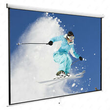 "120"" 1:1 Portable Manual Projector Screen Pull Down Screen Home Movie Theater"
