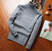 Men's Turtleneck Pullover Knit Shirt Slim Fit Sweater Casual Shirts High Neck