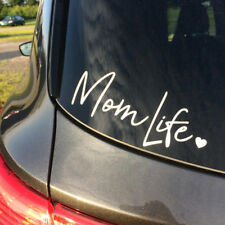 Mom Life Decal Vinyl Sticker Cars Bumper Walls Laptop Reflective White 7.5 in