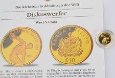 10 Dollar Samoa 1995 Diskuswerfer Olympia 1996 Gold 999