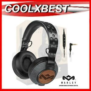 NEW MARLEY LIBERATE XL PREMIUM OVER EAR HEADPHONES iPHONE iPOD HiFi AUDIO WIRED