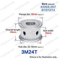 3M-24T Timing Pulley Idler without Bearing 4-14mm Bore 3mm Pitch for 15mm Belt