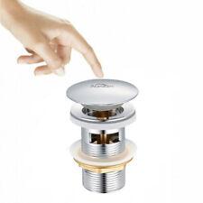 Ablaufventil Ablaufgarnitur POP UP mit überlauf für Waschtisch Waschbecken Chrom