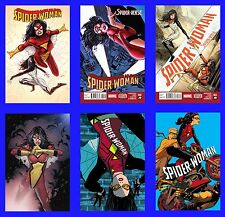 SPIDER WOMAN #1 2 3 4 5 6 SET NEW COSTUME MARVEL NOW VERSE 2014 MAN LOT SILK PS