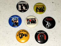 7 Buttons 1 Inch Pin Black Sabbath Ozzy Years 45 Logo Band Paranoid - LOT E