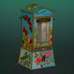 uralter Schokoladenautomat mit Zwerge & Insekten * R. Selbmann Dresden um 1900