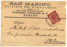 San Marino - 2 cent su frontespizio, 1894